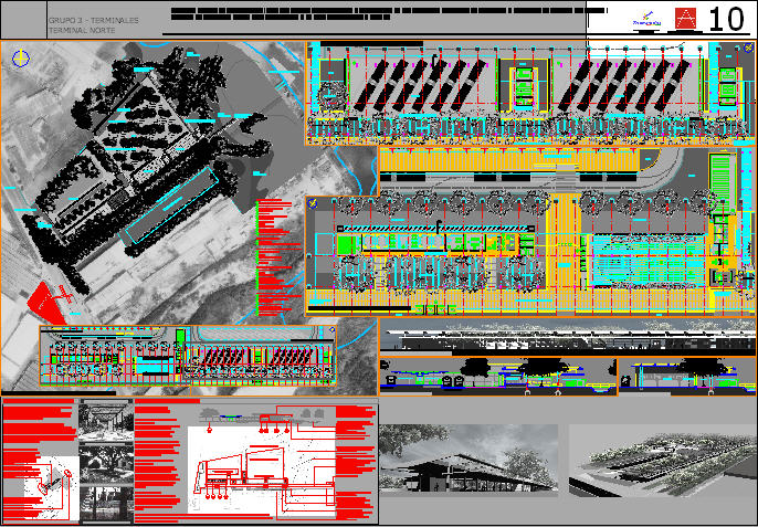 Fig. 21.9 An AutoCAD drawing of the North Terminal of the Barranquilla, Colombia, system.